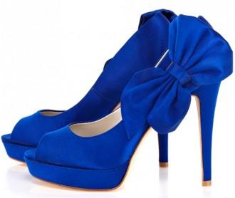 Karen Millen bow corsage peep toes