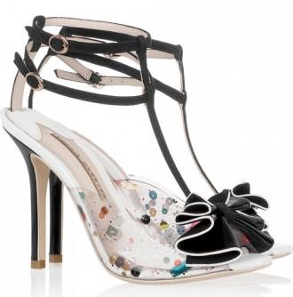 Sophia Webster Lana embellished PVC and suede sandals