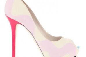 Sophia Webster multicolour peep toes with stripe platform