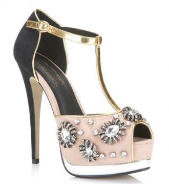 Miss Selfridge 'Power of Love' t-bar sandals