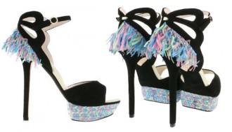 Sophia Webster raffia embellished sandals