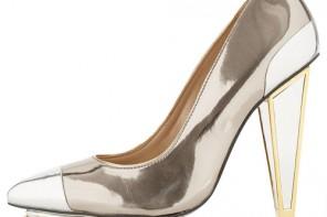 Topshop 'Plazma' premium pointed heels