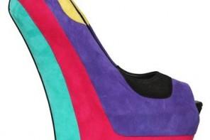 Giuseppe Zanotti 200mm suede multicolour open toe wedges