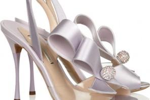 Nicholas Kirkwood Crystal-embellished PVC and satin slingbacks