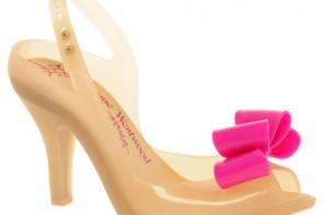 Vivienne Westwood for Melissa Lady Dragon IX Peeptoe Bow Heeled Sandals