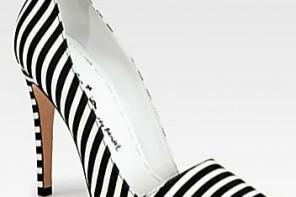 Alice + Olivia Striped Canvas Pumps