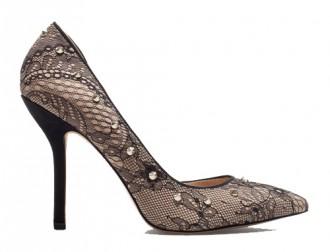ASOS pink lace court shoes