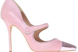 Kurt Geiger 'Mandy' pink leather Mary Janes