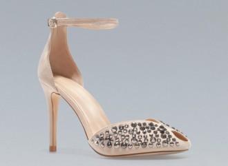 Zara shiny two-part 'Vamp' heels