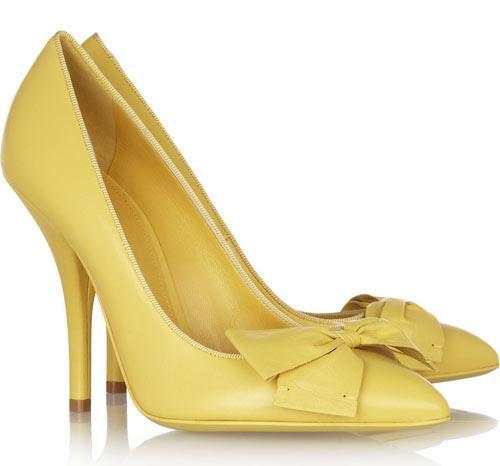 Bottega Veneta bow-embellished leather pumps