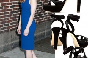 Jessica Chastain in Rupert Sanderson sandals