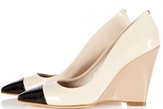 Karen Millen captoe wedge court shoes