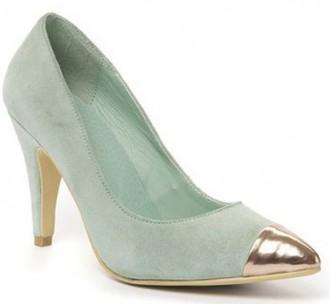 mint green shoes