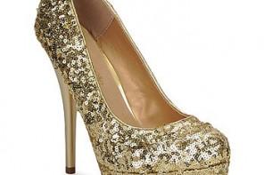 gold sequin shoes