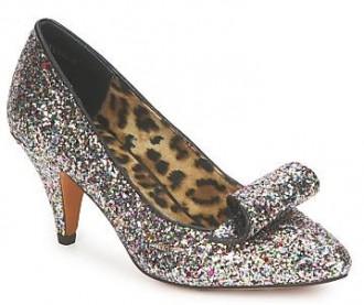 Shellys London silver glitter shoes
