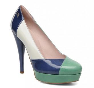 Fornarina Demy patent colourblock heels