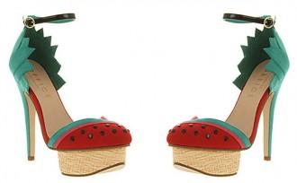 platform shoes with watermelon design