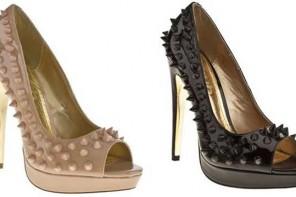 studded peep toes