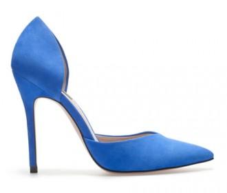 Zara blue sweetheart vamp shoes