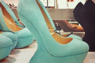 mint green wedge shoe