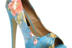 blue floral shoes
