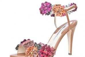 flower sandals in snake print