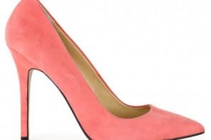 coral stilettos shoes