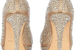 crystal embellished high heel shoes