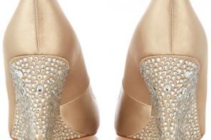 Karen Millen crystal heel wedges