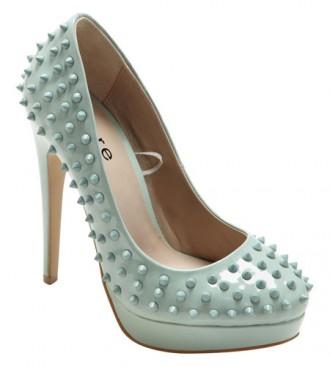 studded mint shoes