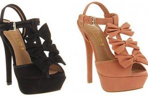 outrageous bow sandals