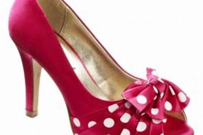 polka dot peep toes