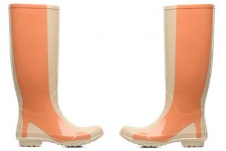 wellies with stiletto print on leg