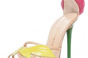 platform sandals with rose detail