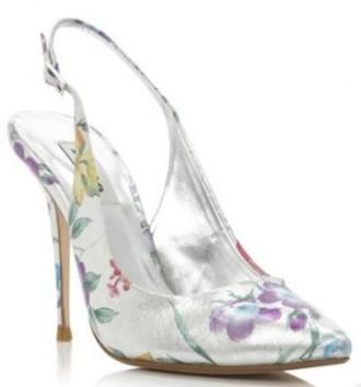 floral slingback shoes