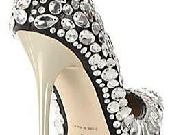 silver Jimmy Choo heel