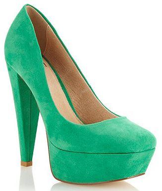 green platform shoes