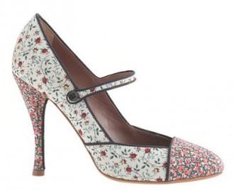 Tabitha Simmons for J Crew 'Folly' rose high-heel Mary Janes