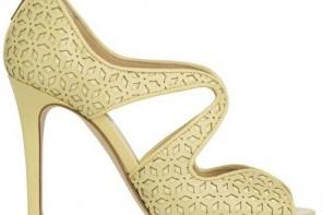 lemon high heel sandals