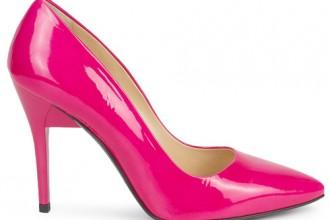 pink patent pumps