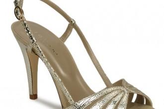gold high heeled sandals