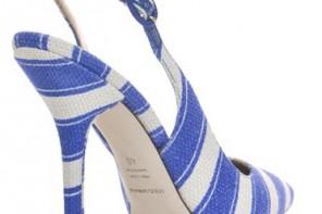 stripe slingback shoe