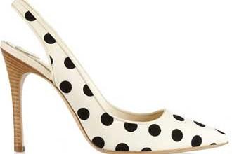 polka dot slingback shoes
