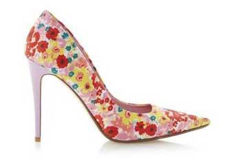 Dune floral print shoes
