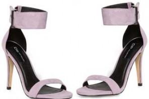 lilac high sandals