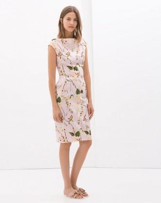 Zara funnel collar dress