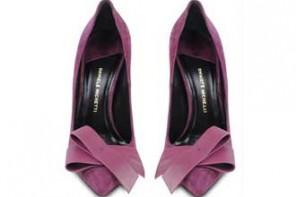 purple bow shoes