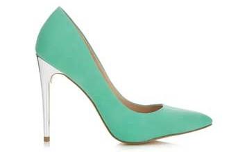 miss selfridge mint green shoes