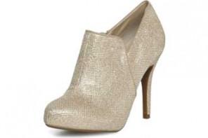gold shoe boots
