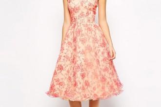 retro inspired floral prom dress - www.ShoeperWoman.com